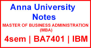 BA7401 International Business Management Notes
