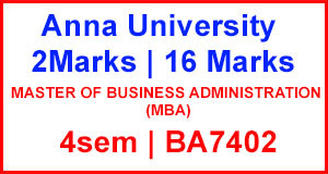 BA7402 – Business Ethics, Corporate Social Responsibility and Governance 2marks & 16marks