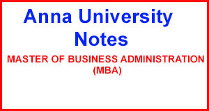 MBA Anna University Notes | Question Paper | 2Marks Regulation 2013