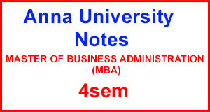 MBA 4th sem Notes, Question Paper, 2Marks, etc Anna University