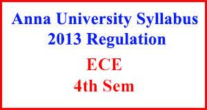 Ece 4th Sem Anna University Syllabus Regulation 2013