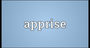 Word of the day – Apprise