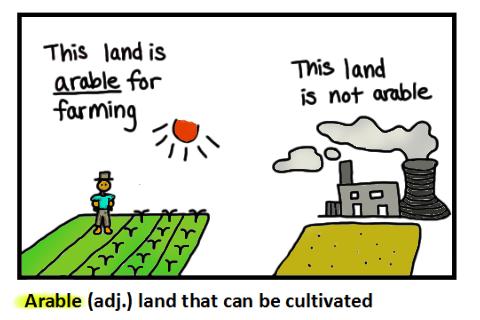 arable usage