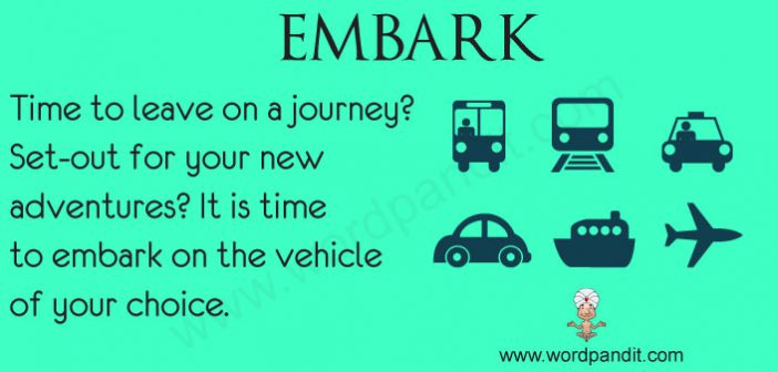 embark on