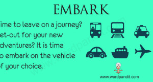 Word of the day – Embark on