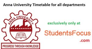 Anna University Exam Timetable Nov Dec 2016 1st 3rd 5th 7th sem